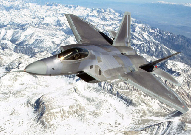 Aircraft Poster Print - F22 Raptor *DISCOUNTED OFFERS*  A3 / A4
