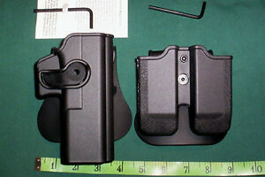 S-amp-W-M-amp-P-9mm-40-357-RH-LVL-II-RETENTION-HOLSTER-DUAL-MAGAZINE-POUCH-PADDLE