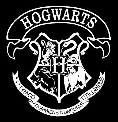 Harry Potter Hogwarts School Crest Vinyl Car Window Decal Sticker Deathly Hallow