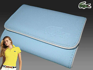 LACOSTE Ladies Girls COIN / CARD PURSE Classic 4 Sky Blue
