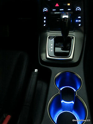 LED Cup Holder Lights - Blue - Fits 2013-2016 Hyundai Genesis Coupe Custom Mod
