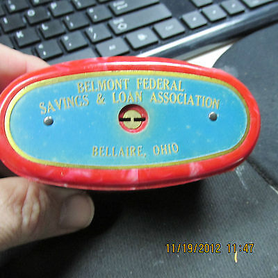 Belmont Federal Savings & Loan  Bellaire, Ohio   COIN BANK  The Traveling Teller