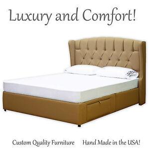 New-Cal-King-Luxury-Bed-Frame-amp-Elegant-Tufted-Headboard-SALE-Platform-BF6