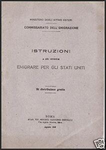 ISTRUZIONI-A-CHI-INTENDE-EMIGRARE-PER-GLI-STATI-UNITI-OPUSCOLO-AGOSTO-1913