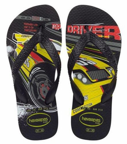 Havaianas Kids Speed Car Flip Flops black