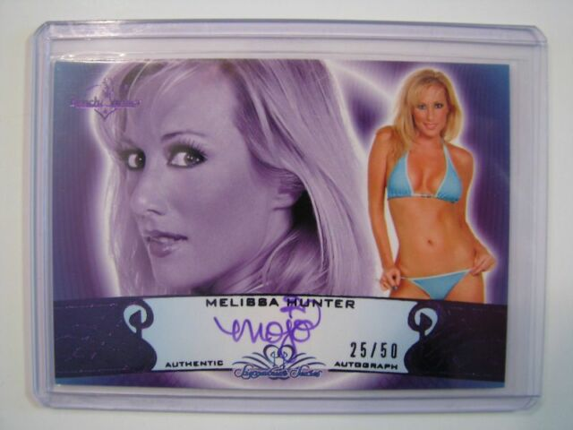 2010 BENCHWARMER MELISSA HUNTER AUTO CARD 25/50 Purple