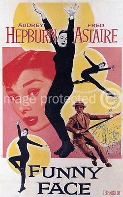 Funny Face Vintage Audrey Hepburn Movie Poster -24x36