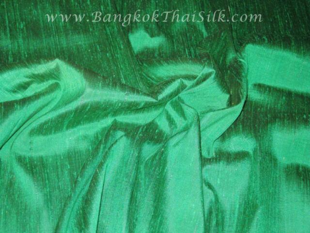 Emerald Green 100% Silk Dupioni Fabric BTY Dress Drape Costume Wedding Kimono