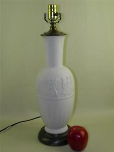 ANTIQUE NEOCLASSICAL FRENCH LIMOGES BISQUE FIGURAL LAMP EBay