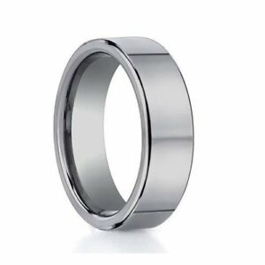 Image Is Loading Polished Tungsten Carbide Plain Grey Tone Comfort Fit