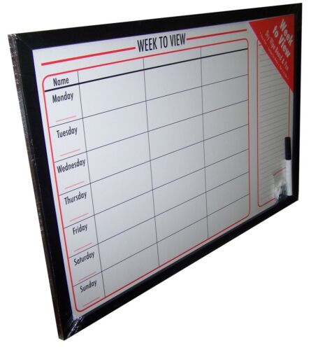 1 x Weekly Drywipe Planner Board 60cm x 40cm
