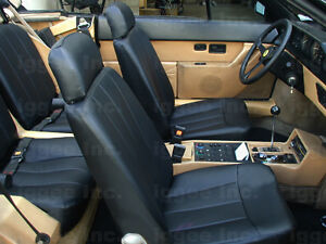 ferrari mondial 1983 85 leather like custom seat cover ebay. Black Bedroom Furniture Sets. Home Design Ideas