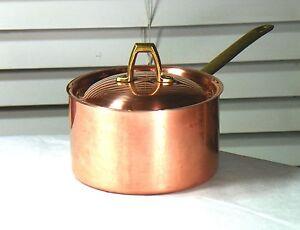 PAUL-REVERE-WARE-USA-Made-Signature-1976-Solid-Copper-Clad-1-QT-Sauce-Pot-Pan