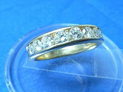 MAN'S DIAMOND RING WEDDING BAND 14KT YELLOW GOLD 1.0 CARAT TOTAL