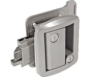 Silver G RV Entry Door Lock Handle Knob w/ deadbolt Camper Travel ...
