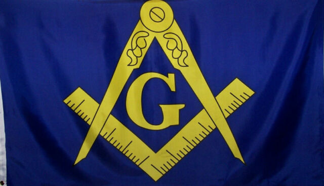 MASON FLAG - MASONIC BANNER - COMPASS & SQUARE - NEW