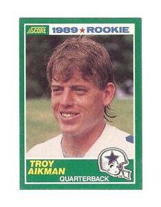 1989 Score Troy Aikman Dallas Cowboys 270 Football Card