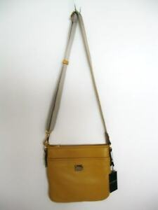 Ralph-Lauren-Womens-Sunshine-Stockbridge-Flat-Crossbody-Leather-Bag-NWT