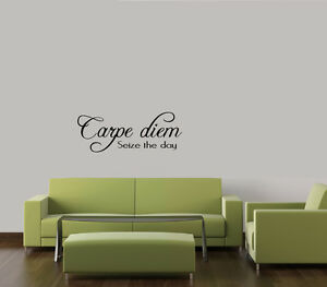 Diem seize the day wall decal words sticker art home decor lettering