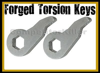 """New Torsion Leveling Front Forged Lift Keys 1992 - 99 Chevy GMC K1500 1""""-3"""""""