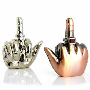 New-3-034-Novelty-Middle-Finger-Windproof-Flame-Gas-Cigarette-Butane-Lighter-20356