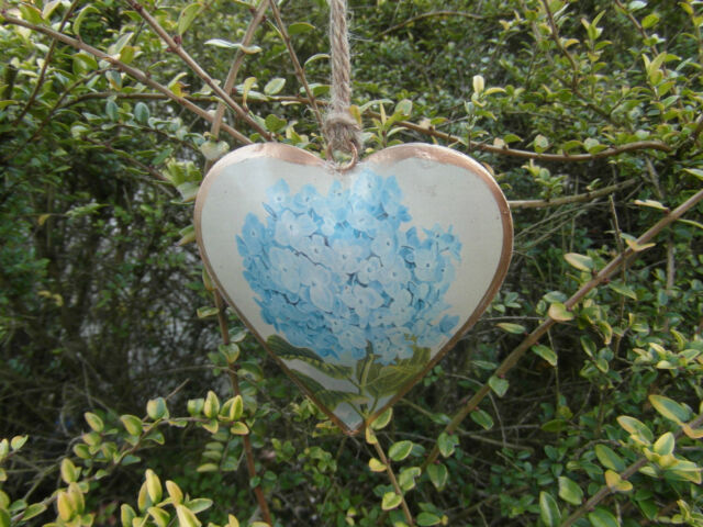 NEW VINTAGE STYLE HANGING METAL HEARTS BIRDS & FLOWERS DECORATION GIFTS
