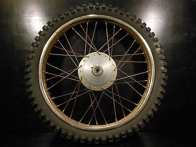 1972 Indian SS-125 SS 125 Enduro Minarelli Front Wheel Rim Tire Hub Pirelli 3-21