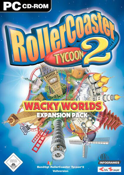 RollerCoaster Tycoon 2: Wacky Worlds Expansion Pack (PC, 2003),ZUSTAND SEHR GUT!
