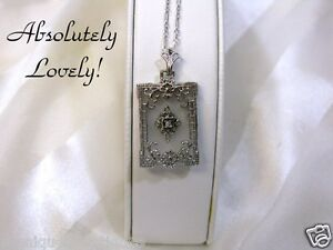 CAMPHOR-GLASS-w-DIAMOND-FILIGREE-PENDANT-NECKLACE
