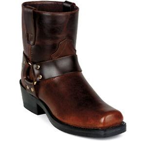 Durango-Men-7-Short-Harness-Motorcycle-Brown-Frontier-Leather-Boot-DB714