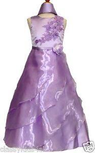 Children-Flower-Girl-Pageant-Evening-Graduation-Formal-Lilac-dress-Size-4-16