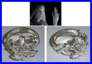 LOTR-Lord-Rings-GALADRIEL-RING-NENYA-Silver-Swarovski-OFFICIAL-CERTIFICATE-BAG