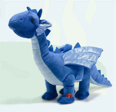 Drach the Dragon 15 Inch Walking Plush Stuffed Animal by Russ Berrie R35587