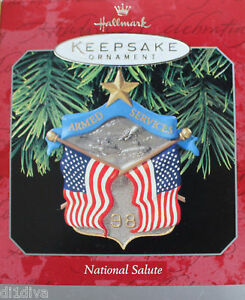 Hallmark-Armed-Service-1998-American-Flag-Ornament-Christmas-Holiday-Collectible