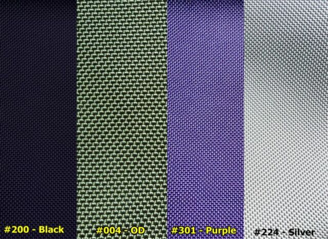"Ballistic Nylon 59"" to 60"" X 36""~ Choose from 3 colors"