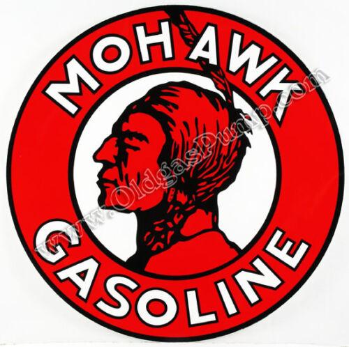 "MOHAWK INDIAN GASOLINE 12/"" VINYL GAS PUMP DECAL DC-161"