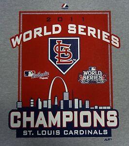 St-Louis-Cardinals-2011-World-Series-Champions-Grey-Longsleeve-T-Shirt-XL