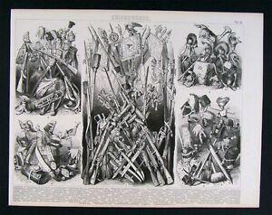 1874-Print-Guns-Rifles-amp-Swords-Helments-Standards-War