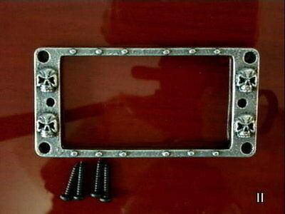 1 SKULL HUMBUCKER PICKUP METAL RING for standard & emgs guitar surround