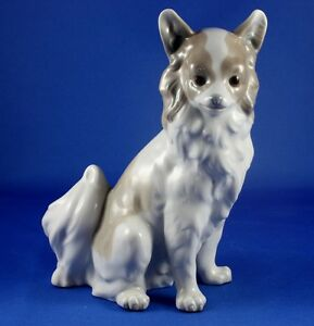 Nao-by-Lladro-Large-Pomeranian-or-Papillon-Dog-Porcelain-Figurine-Mint