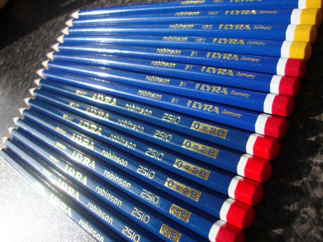 Lyra Graphite Drawing Sketching Pencils – Pack of 16 – HB B 2B 3B