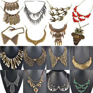 Fashion-Elegant-Luxury-Retro-Punk-Rock-Fake-Collar-Choker-Bib-Statement-Necklace