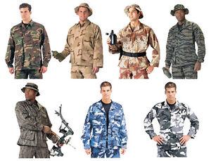 Camouflage-BDU-Shirts-army-battle-dress-uniform-military-camo-fatigue-coat