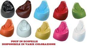 Poltrona ecopelle pouf sacco pouff puff puf pera pieno cm 85x98 vari colori new ebay - Poltrone sacco ikea ...