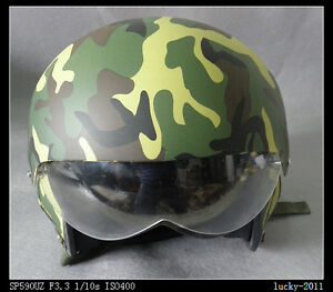 CHINESE-MILITARY-AIR-FORCE-JET-PILOT-FLIGHT-HELMET-Camouflage