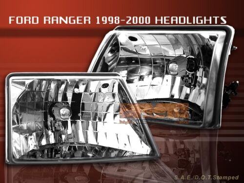 1998 1999 2000 FORD RANGER CLEAR HEADLIGHTS LAMPS 1998-2000