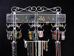 Jewelry-Organizer-Rack-Storage-Over-Door-or-Wall-Mount-Display-Holds-300-Pieces
