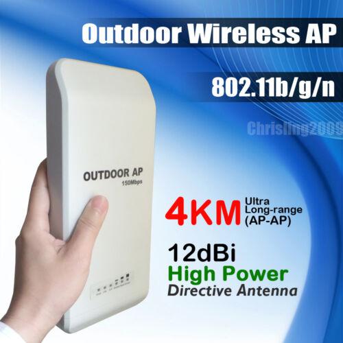 High Power Outdoor Wireless Network AP Access Points Client Bridg 802.11b/gn 11n