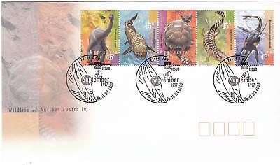 1997 Wildlife of Ancient Australia FDC - Perth 6000 PMK