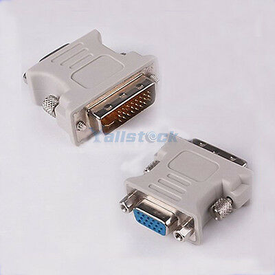 DVI DVI-D 24+1 Pin Male to VGA Female M-F Video Adaptor Converter for PC HDTV